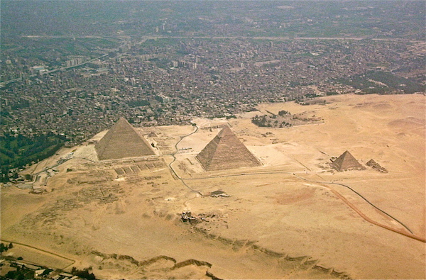 There is a hole in the Great Pyramid of Giza
